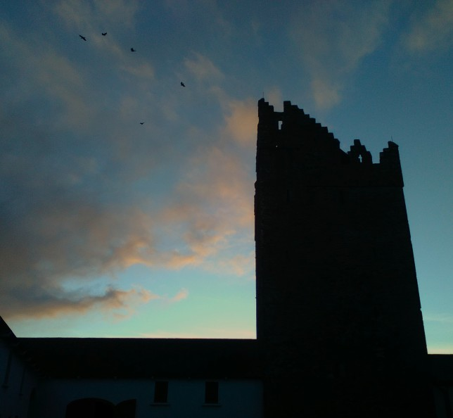 Castle Silhouette, just after the Rookery had flown around the Castle like a swirling cloud.