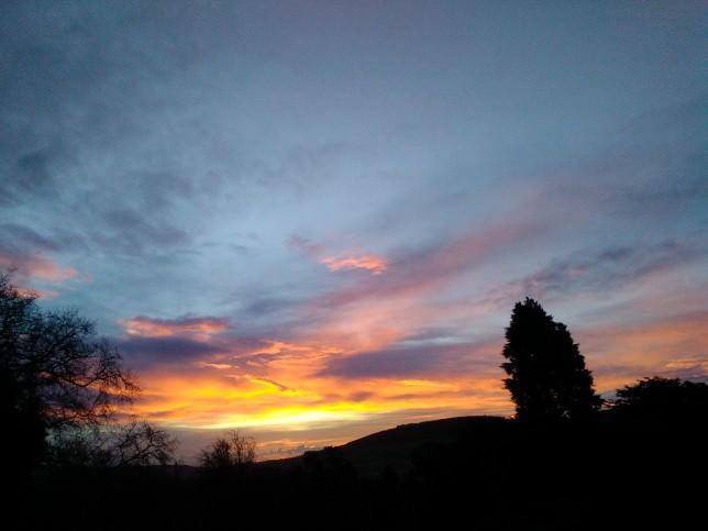 Sun rise in Wicklow