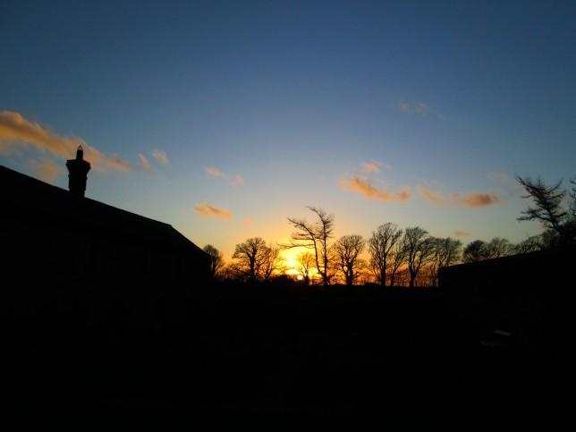 Sunset from Herb Garden