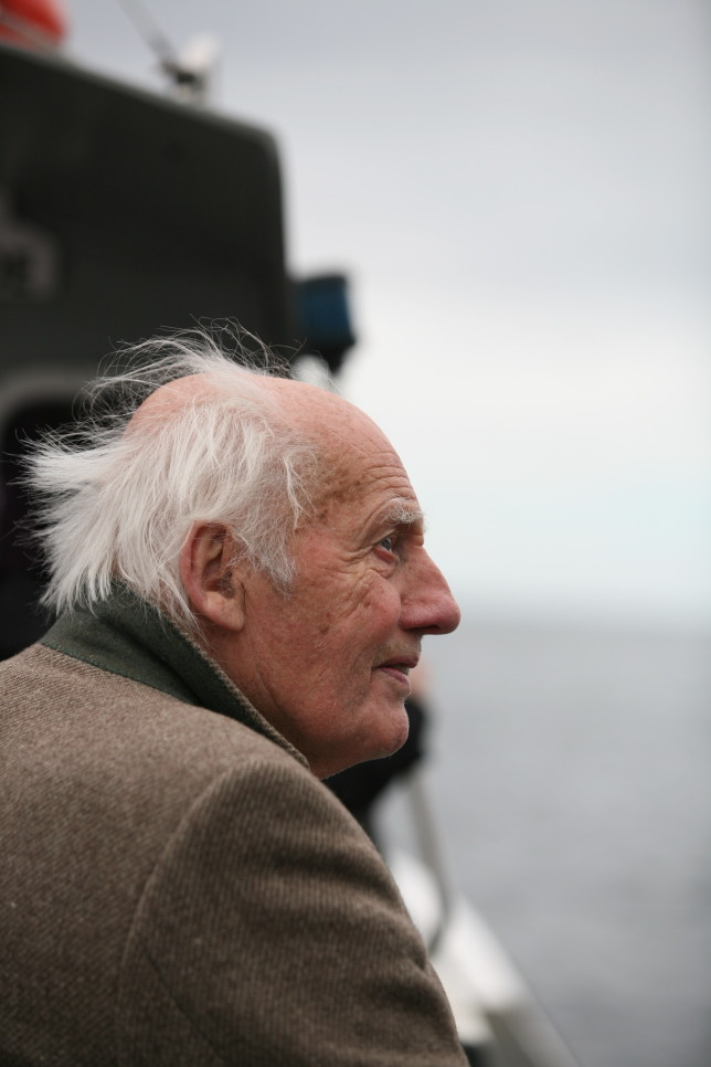 My Grandad in his element, taking in all the Sea Life